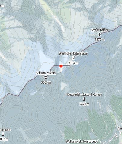 Karte / Schwarzensteinhütte (Rif. al Sasso Nero)