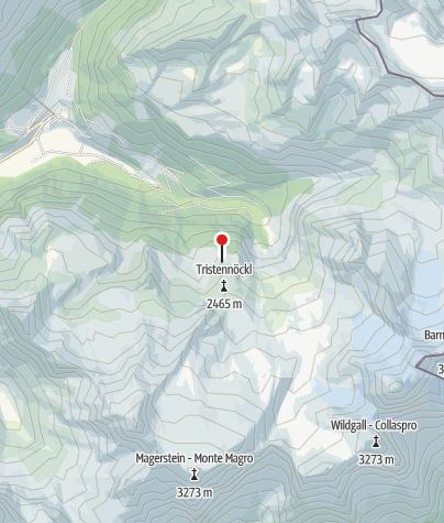 Karte / Kasseler Hütte (Rif. Roma)