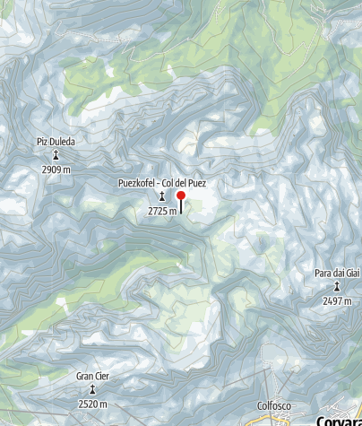 Karte / Puezhütte