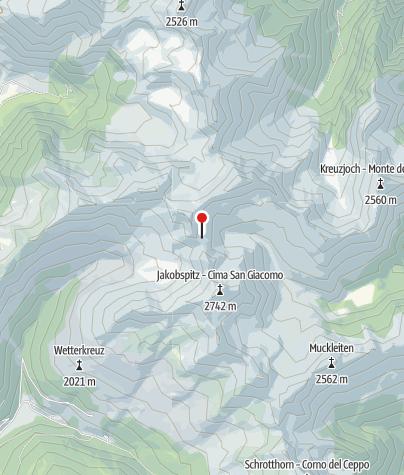 Karte / Flaggerschartenhütte/Marburgerhütte (Rif. Forcella Vallaga)
