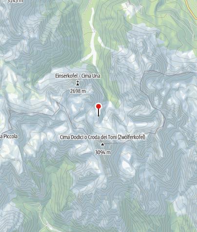 Karte / Zsigmondyhütte (Rif. Comici)