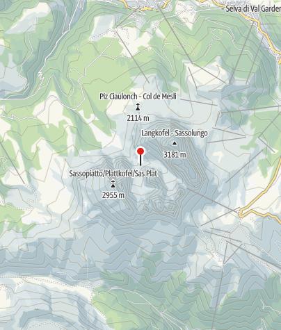 Karte / Langkofelhütte (Rif. Vicenza)