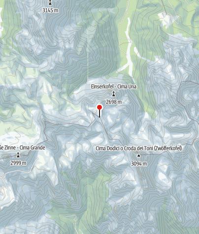 Karte / Büllelejochhütte (Rif. Pian di Cengia)
