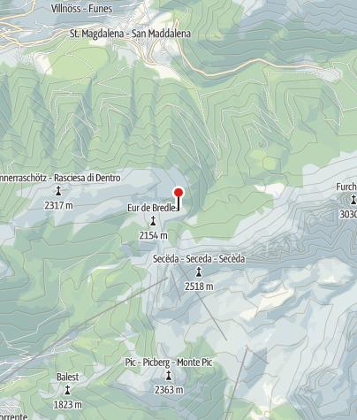 Karte / Brogleshütte (Malga Brogles)