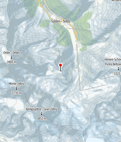 Karte / Hintergrathütte (Rif. Coston)