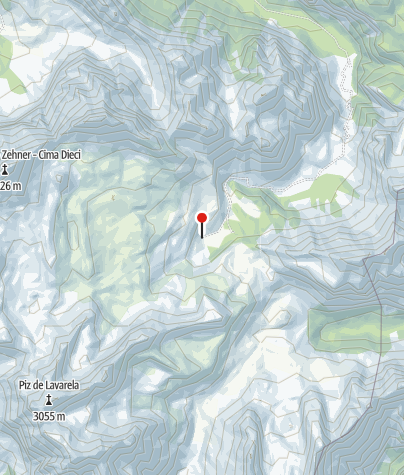 Karte / Lavarellahütte
