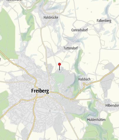 "Karte / Silberbergwerk ""Reiche Zeche"" Freiberg"