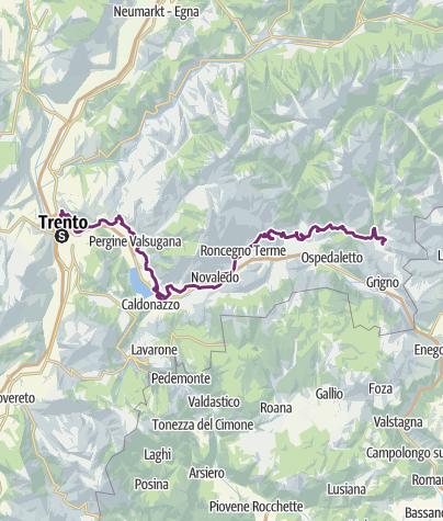 地图 / E-bike - Via Claudia Augusta in Valsugana