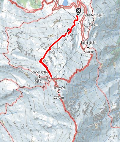 Karte / Glungezer Klettersteig