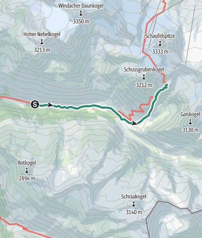 Map / Hildesheimer Hütte 2899 Steieler Gaisakarweg - Sölden