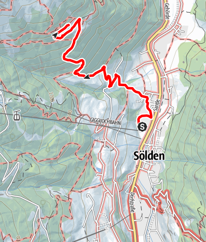Karte / Leiterbergalm - Sölden