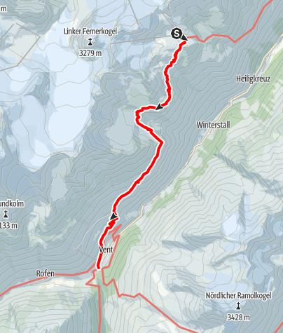 Karte / Tiefenbach - Vent - Sölden