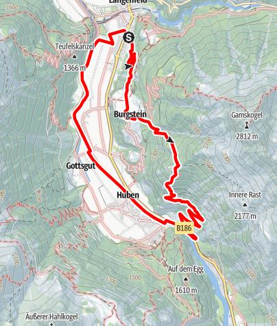 Karte / Platter Grube - Längenfeld