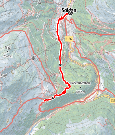 Map / Silbertal - Sölden