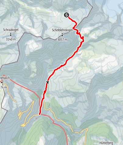 Karte / Ötztal Trek Etappe 08