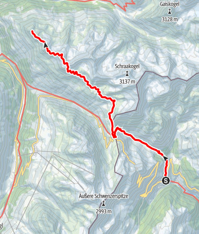 Karte / Ötztal Trek Etappe 09
