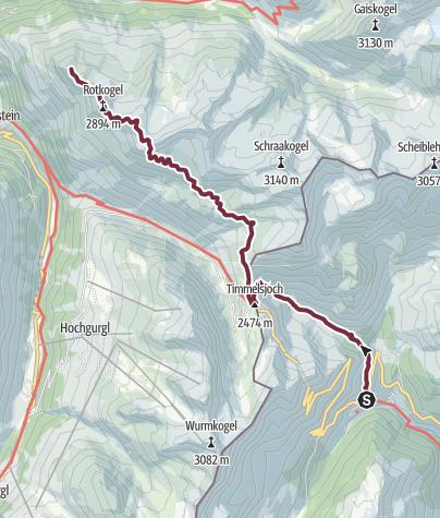 Map / Ötztal Trek Stage 09
