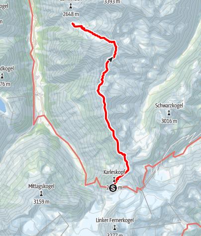 Karte / Ötztal Trek Etappe 18