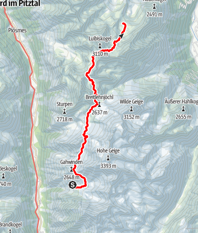 Map / Ötztal Trek Stage 19