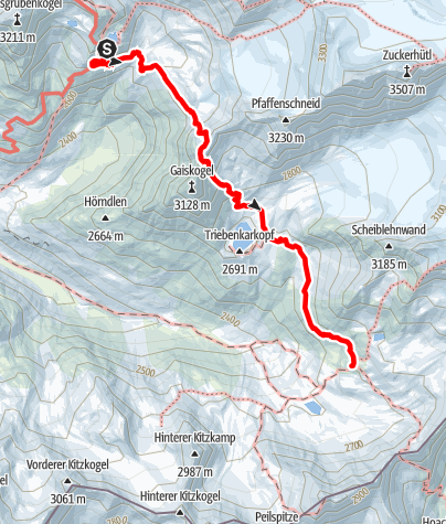 Map / Ötztal Trek Stage 07