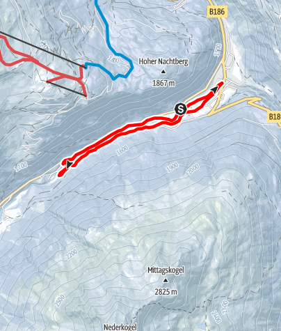 Map / Cross-country track Zwieselstein