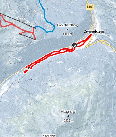 Karte / Langlaufloipe Zwieselstein - Sölden