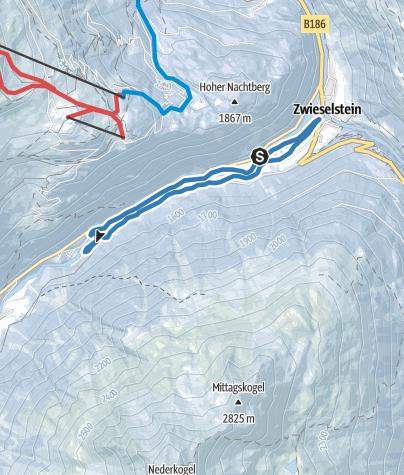 Map / Cross-country track Zwieselstein - Sölden