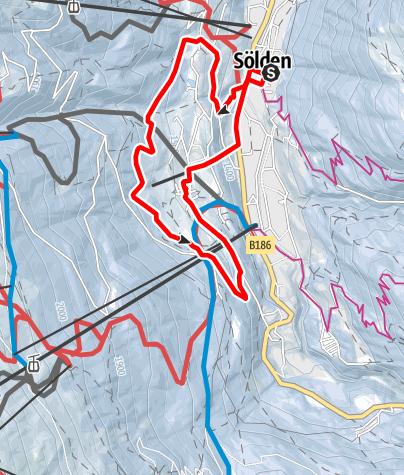 Karte / Panoramaweg - Sölden