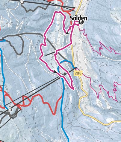 Map / Panoramaway -  Sölden