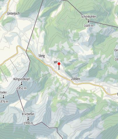 Karte / Haus Schattwald