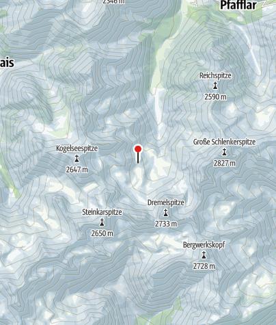 Karte / Parzinnhütte
