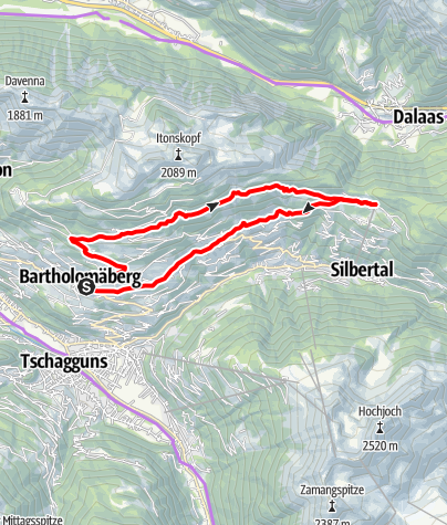 Karte / Panoramatour Bartholomäberg - Kristberg (E-Bike)
