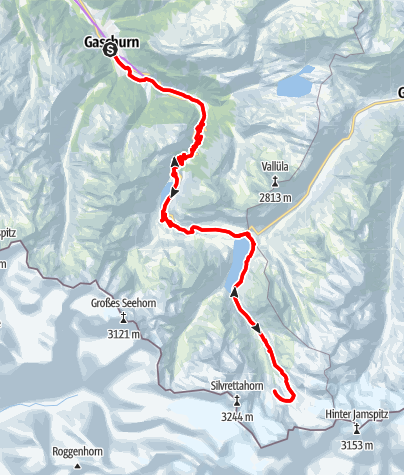 Karte / Gletscher Tour (E-Bike)