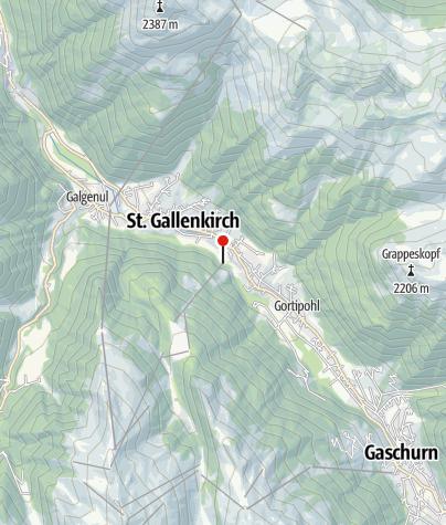 Karte / T8: Talstation Garfrescha Bahn, St. Gallenkirch-Gortipohl