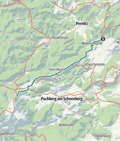 Karte / Schneeberg - Edelweisshütte über Dürre Wand von Reichental