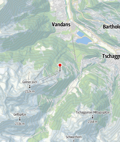 Karte / L5: Haus Matschwitz, Mittelstation Golmerbahn, Tschagguns