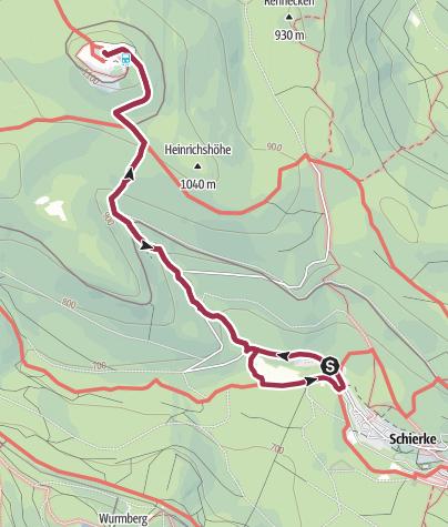 Karte / Durch das Eckerloch zum Brocken