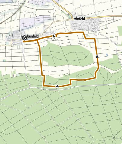 Karte / Freckenfeld - Nordic Walking Tour 4 - Rundtour