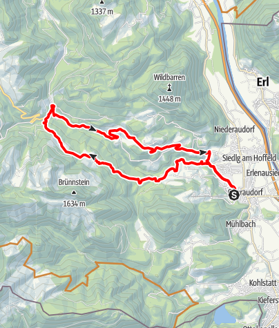 Karte / Mountainbiketour rund um den Tatzelwurm