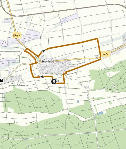 Karte / Minfeld - Nordic Walking Tour 8 - Rundtour