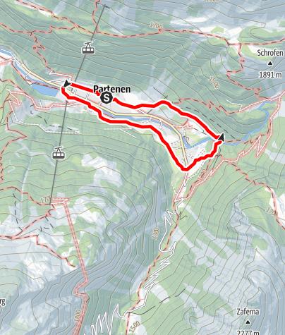 Karte / A3: Dorfrunde Partenen