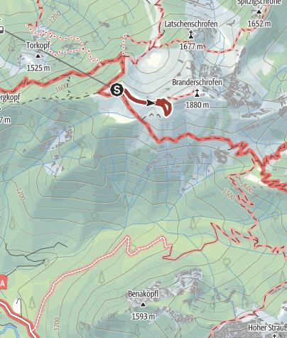Karte / Königsrunde am Tegelberg