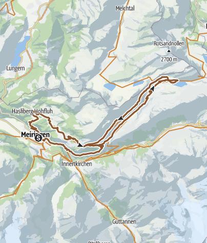 地图 / Alpine Trails hoch über dem Gental