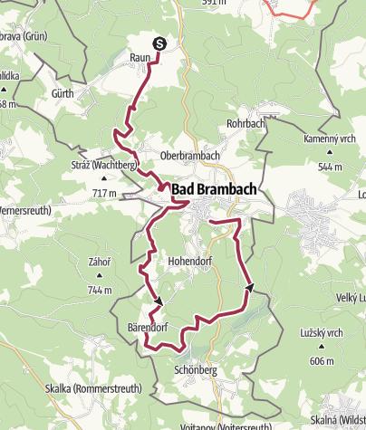 Map / Von Raun nach Bad Brambach