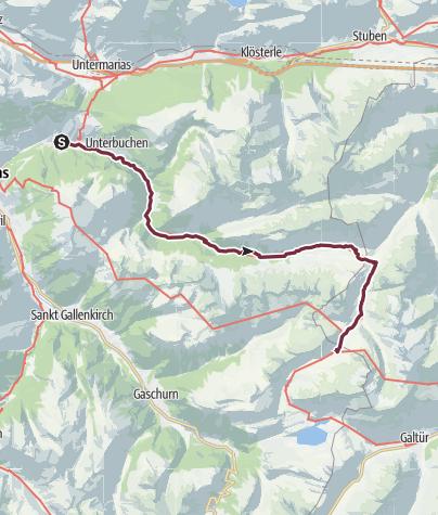 Karte / Walserweg E 24 – Durch das hintere Silbertal zur Heilbronner Hütte