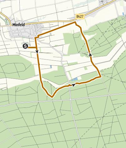 Karte / Minfeld - Nordic Walking Tour 9 - Rundtour