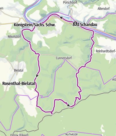 Karte / Drei-Teiche-Tour