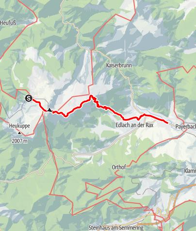 Karte / WAB - Etappe 12: Habsburghaus - Reichenau/Payerbach