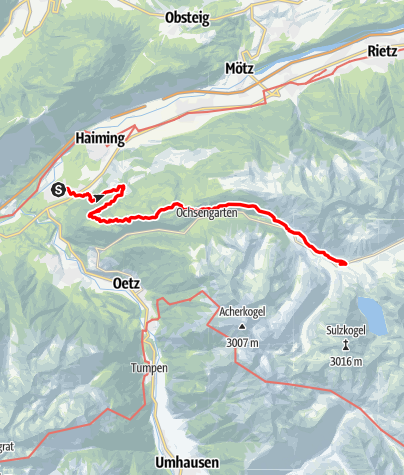 Map / Ötztal Trek Stage 01