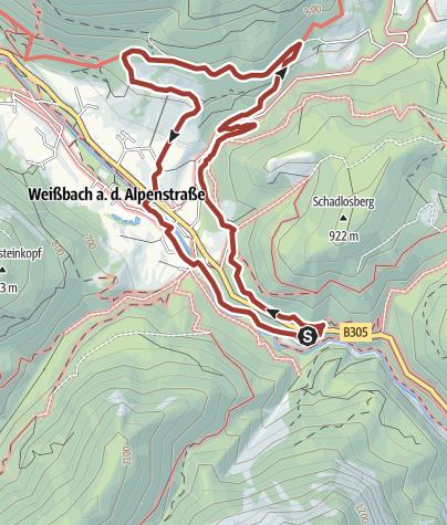 Karte / Weißbacher Salinen-Rundweg I
